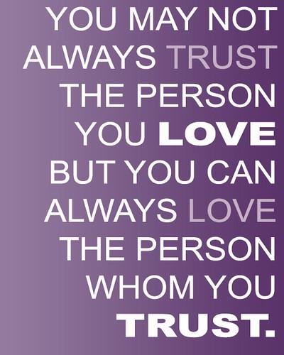 Trust Love Quotes
