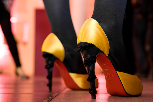 Louboutin Yellow and black