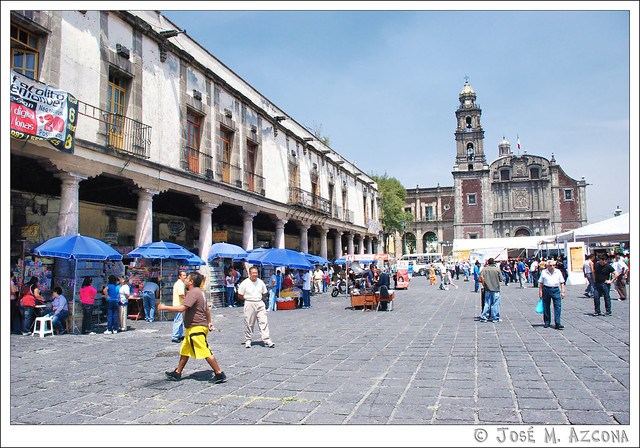 Mexico DF. Plaza de Santo Domingo.