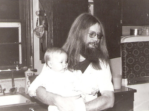 My dad and me in 1976