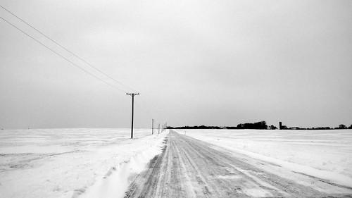 road winter snow ice landscape powerlines nothing bigrock hinckley countylinerd p2wy troxel