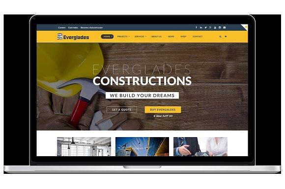 Everglades v1.3.14 – Professional Construction WordPress Theme