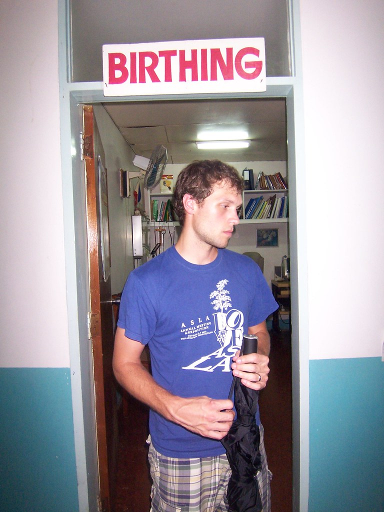 ian exiting the birthing room
