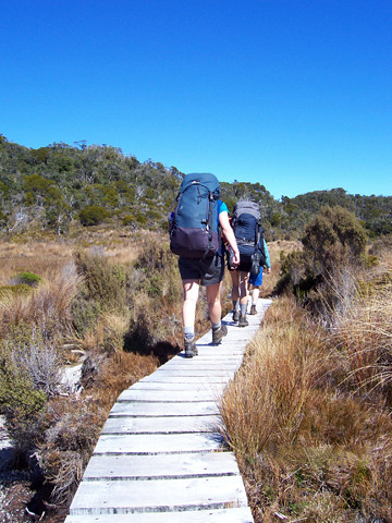 Trampers on Heaphy Track