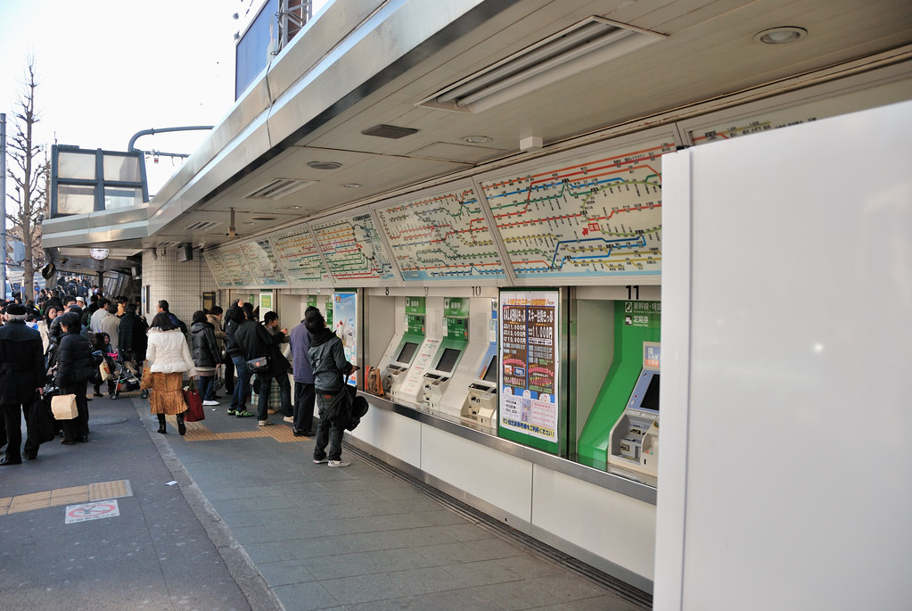 Ticket Machines in JR Harajuku Station