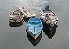 Four small boats