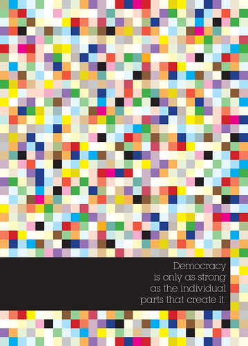 Democracy Pixels Poster von Peter Fletcher