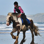 Beach Ride In Wales