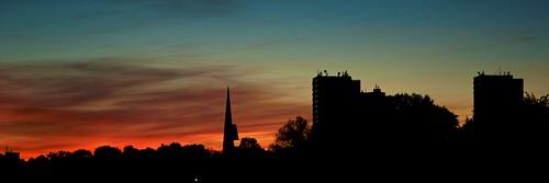 sunset red sky panorama rot sonnenuntergang himmel sonne ulm dämmerung böfingen