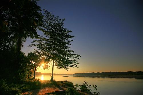 sunset peru southamerica river amazon rainforest jungle amazonia madrededios peruvianamazon