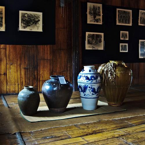 ancient jars (tajau) at the house of skulls
