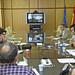 Representantes de empresas y centros tecnológicos de Tecnópole durante las vídeoconferencias de intercambio de oferta tecnológica con empresas del Polígono Industrial de Sabón en el marco del programa COPIT. 29 de octubre de 2009.