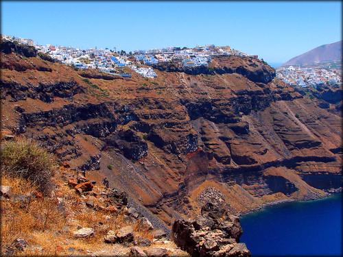 View to Firostefani & Fira / Santorini ,           Φηροστεφάνι και Θήρα  / Σαντορίνη