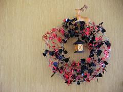 petal(0.0), art(1.0), decor(1.0), christmas decoration(1.0), wreath(1.0), pink(1.0),