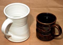 Pottery: Custom White Mug Comparison