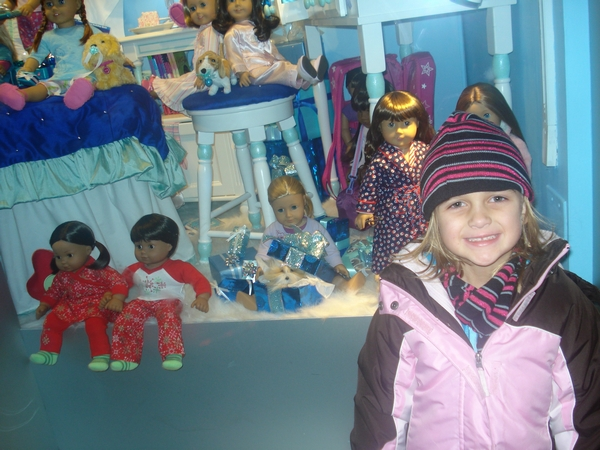 American Girl store...we bought her lots of xmas gifts!