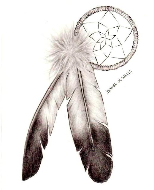 Native American Eagle Feather Tattoos