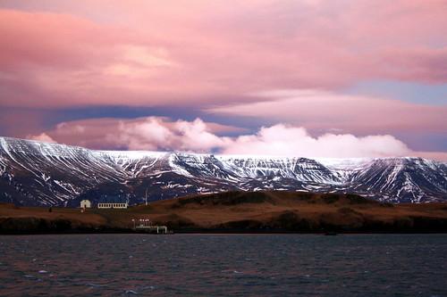 pink sky cloud iceland islandia reykjavik esja ísland islande viðey inthemood ísland justclouds reykjavík