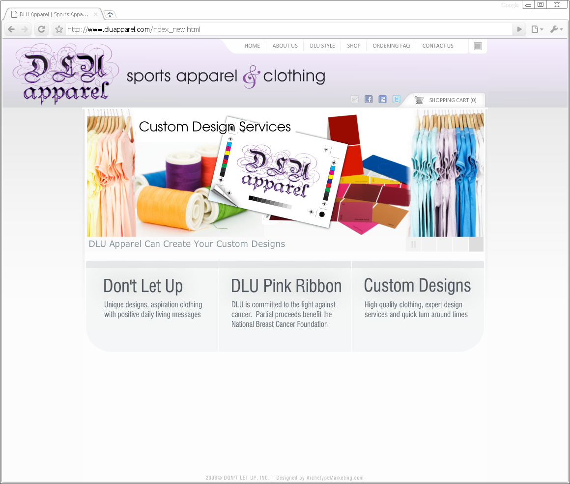 DLU Apparel Flash Ecommerce Website