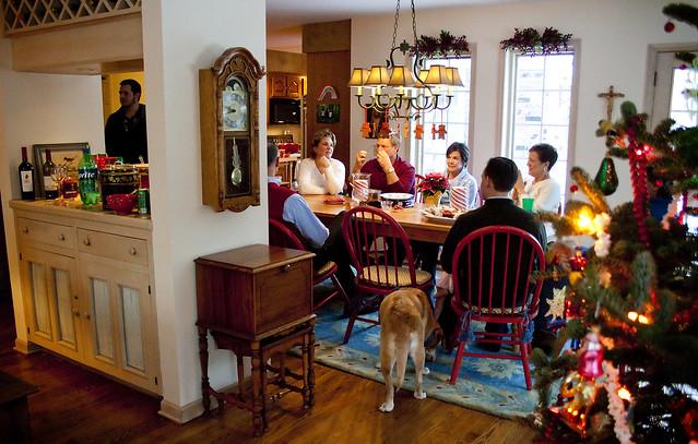 navidad, familia, discusión