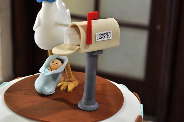 stork baby shower cake topper flickr photo sharing