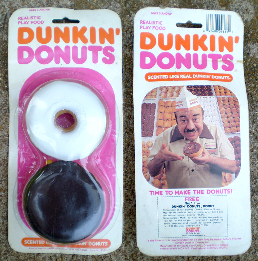 1987 Dunkin' Donuts Realistic Play Food
