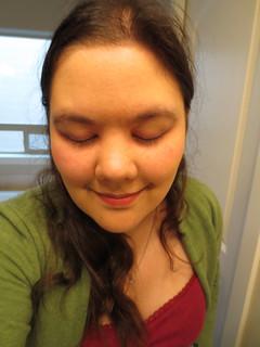 "Eyeshadow.  I'll go with ""subtle"" rather than ""ineffective"""