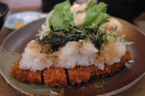 """Mizore Tonkatsu""(pork cutlet) at Okuda"