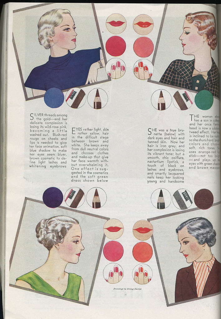 1935 makeup advice for aging