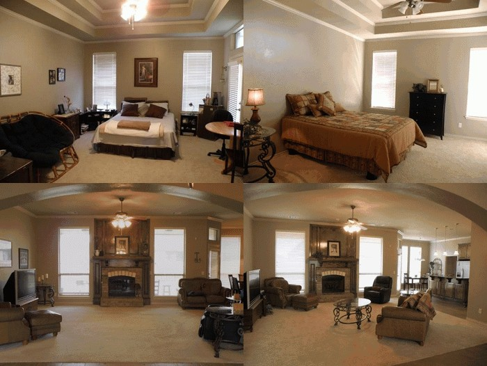 A Staged Home Before And After Showmeokc
