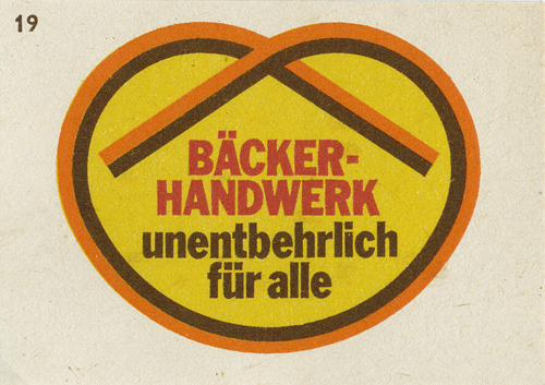 German matchbox label