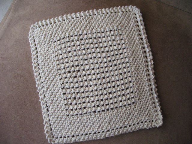 Knitted Dishcloth Patterns Diagonal : Just Another Dishcloth Flickr - Photo Sharing!