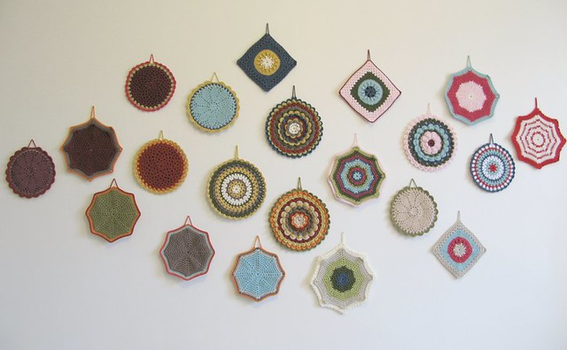 Crochet potholder collection for the Peter Potter Gallery, by Emma Lamb