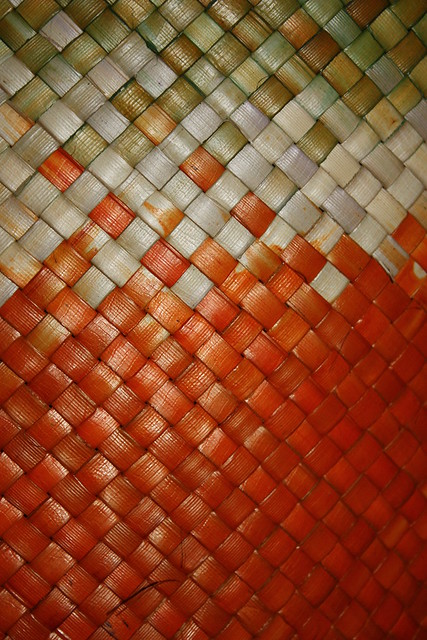 Anyaman Tikar Mengkuang Orange Brown Flickr Photo Sharing