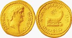 RRC 521/2 Aureus Antony, Prow AHENOBARBVS