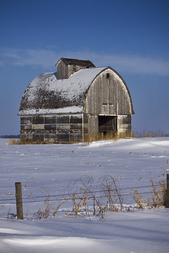 Winter Barn in Iowa
