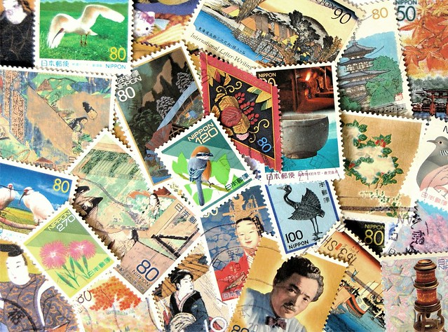 Japanese Stamps Postcard