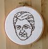 Bill Clinton Cross-Stitch Portrait by MonaxMonax