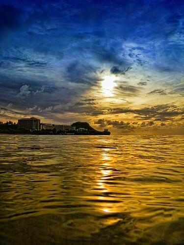 ocean sunset pentax optio guam waterproofcamera pacificislandsclub w60 picguam hiltonguam