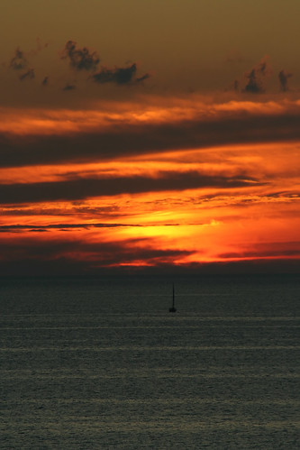 sunset orange bayfield