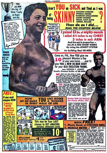 VINTAGE COMIC BOOK MUSCLE MAN AD 7