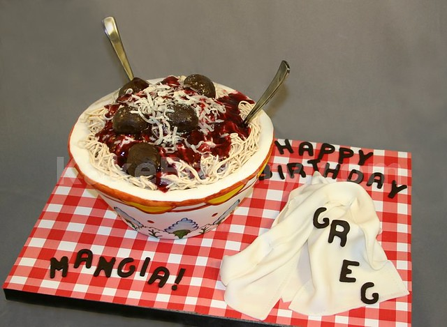 Pasta Bowl Birthday Cake | Birthday cake made for a client t ...