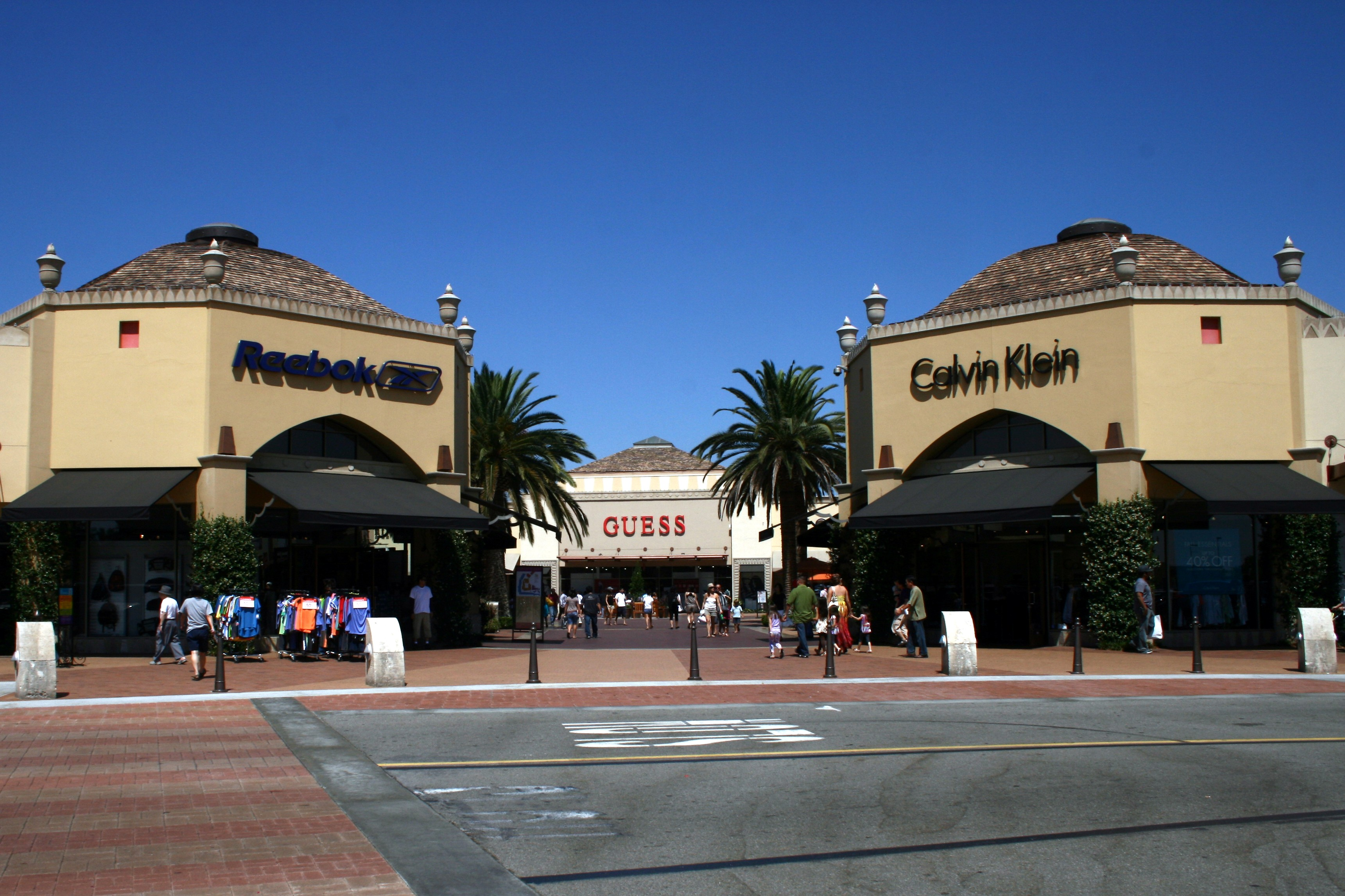 """The Citadel Outlets shopping center is one of the closest outlets to Los Angeles. Appropriately named, the collection of shops is located within a """"castle,"""" complete with brand-name stores. Appropriately named, the collection of shops is located within a """"castle,"""" complete with brand-name stores."""