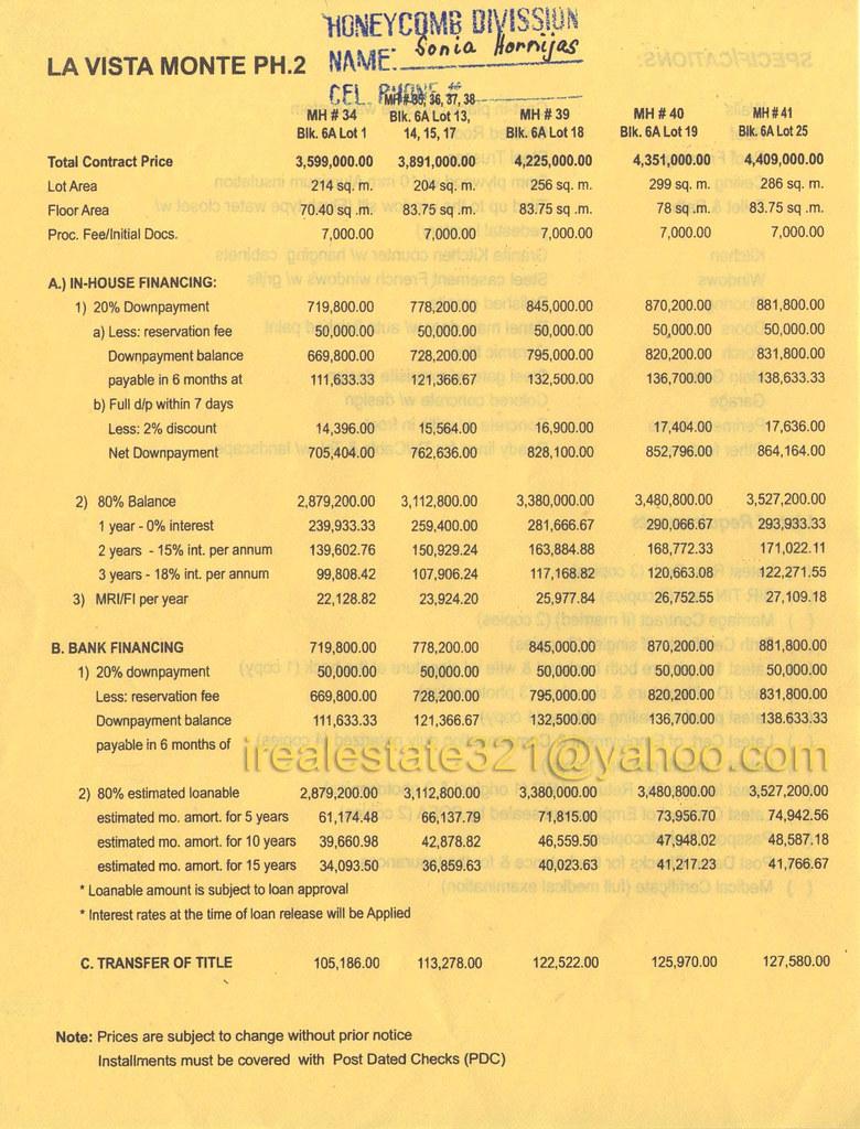 La Vista Price List. CERAMIC TILES PRICE LIST