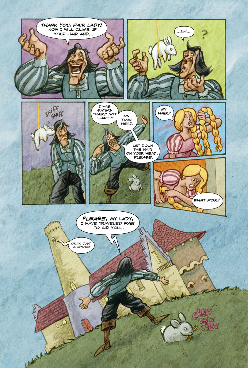 Raponsel page 2 illustrated by Anthony Peruzzo