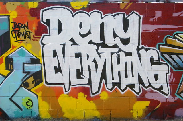 Deny Everything Photo by Eclectic Dyslexic on Flickr