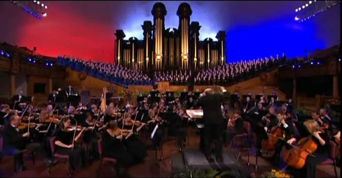 Mormon Tabernacle Choir sings on Music and the Spoken Word