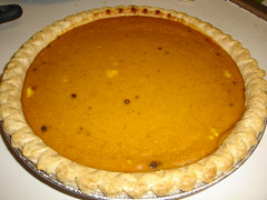 calabaza(0.0), produce(0.0), torte(0.0), flan(0.0), pie(1.0), pastry(1.0), sweet potato pie(1.0), baked goods(1.0), custard pie(1.0), tart(1.0), food(1.0), dish(1.0), cuisine(1.0), quiche(1.0), pumpkin pie(1.0),