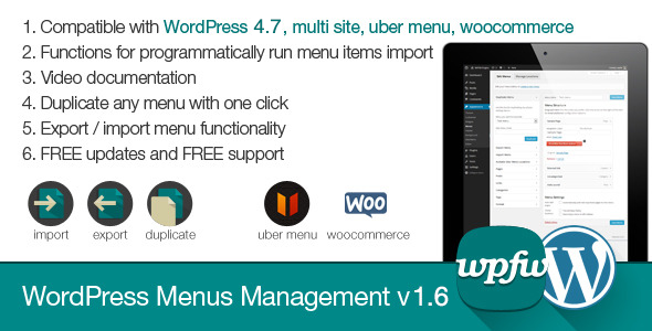 WordPress Menus Management v1.7