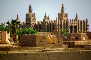 The Great Mosque of Djenné in Mali is the largest mud brick building in the world.